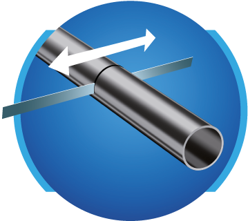 Manufacturing process: cutting of the tubes